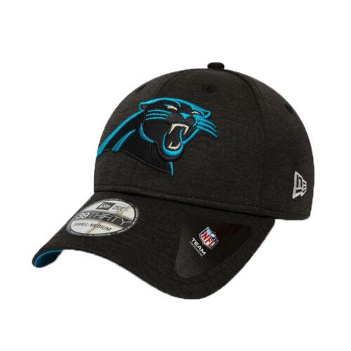 NEW Carolina Panthers Cap New Era Shadow Tech 39Thirty Stretch Black Cap S//M