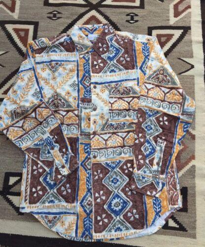 Chamois Sz Heren Funky Boho Katoen Shirt New Abstract M Ahead Territory bloemen uTiwZOPkXl
