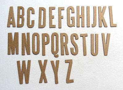 "Narrow Block Raw White 0.03/"" Chipboard Alphabet Letters 60 pcs 1.5/""  30 pts"
