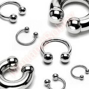316L-Surgical-Steel-Ball-Horse-Shoe-Bar-Circular-Ring-Body-Piercing-Jewellery