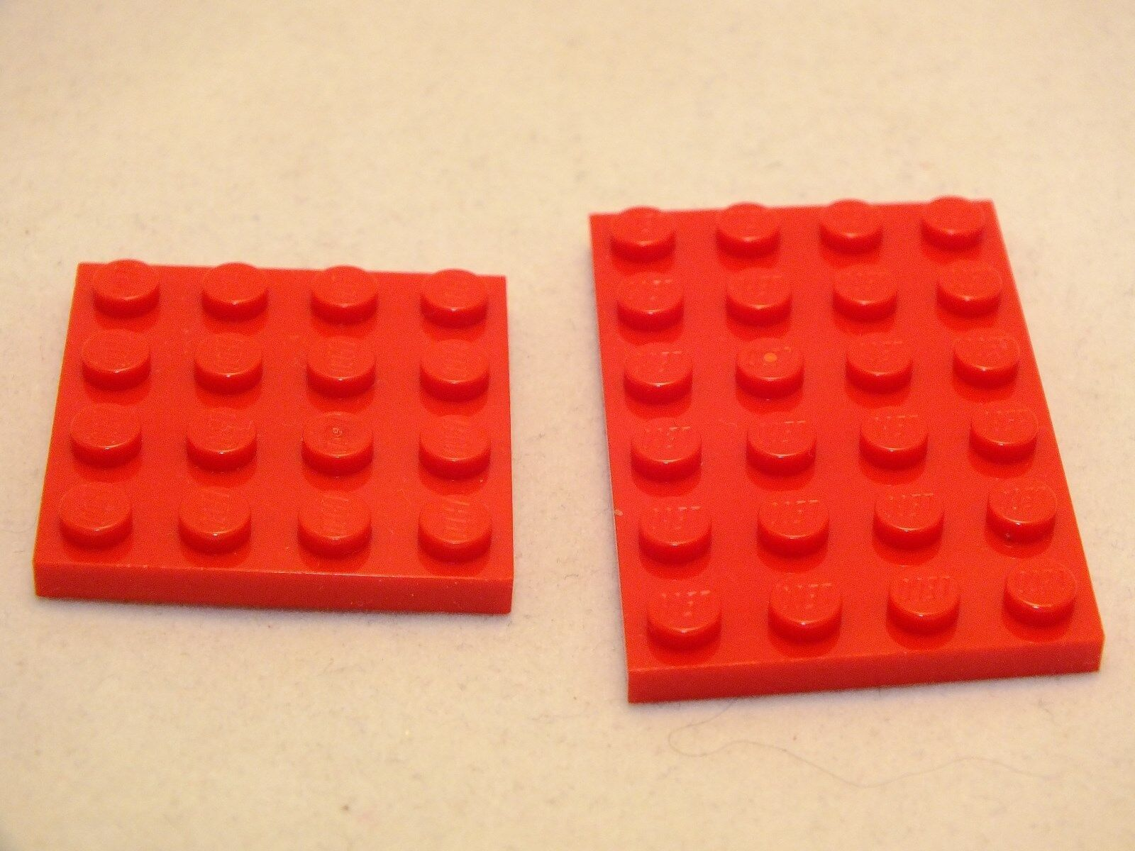 LEGO 4X4,4X6 rot FLAT PLATES BRAND NEW NEVER USED 220 PIECES