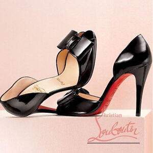 clearance in China Christian Louboutin Bow Peep-Toe Pumps wiki online QmTlYCxTrj