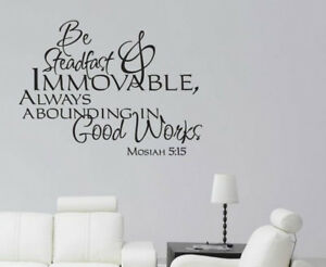 Details About Mosiah 5 15 Verse Vinyl Wall Stickers Decals Scripture Quote Word Decor