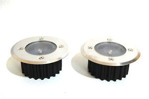 2x Bodenstrahler Bodenleuchte Einbaustrahler Terrassenspot LED Wegbeleuchtung