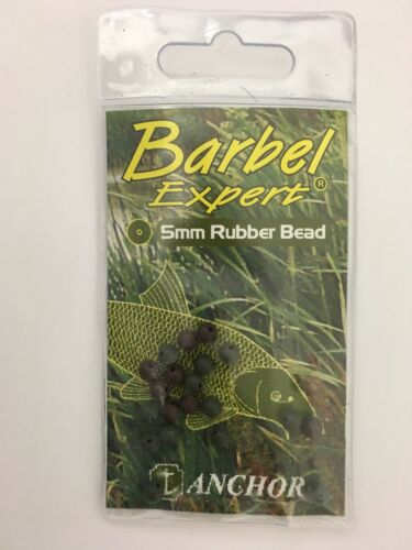 BARBEL EXPERT 5MM RUBBER BEAD BROWN AND GREEN ANCHOR TACKLE CARP