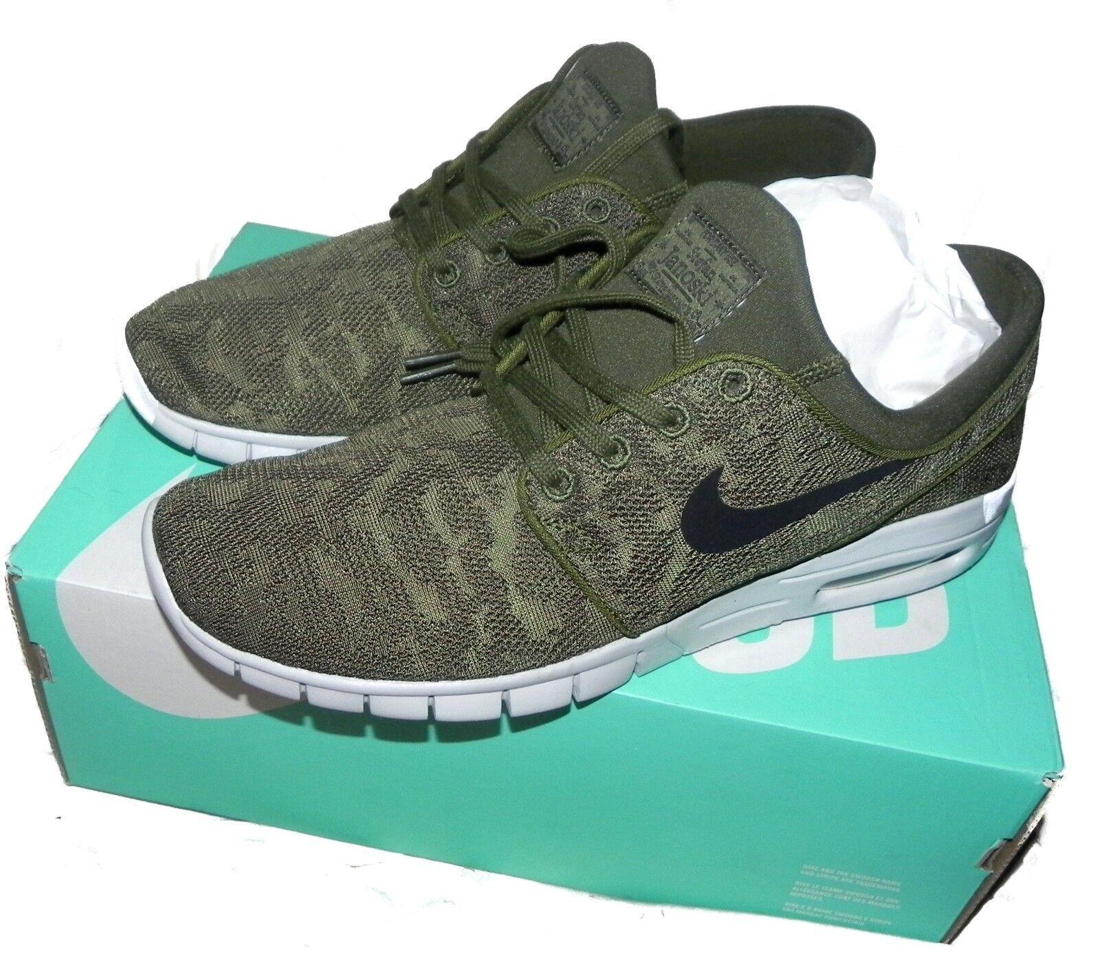 Nike sb stefan janoski max legion grüne schwarze schwarze schwarze 631303 300 größe 10,5 nwb 110 dollar d4d589