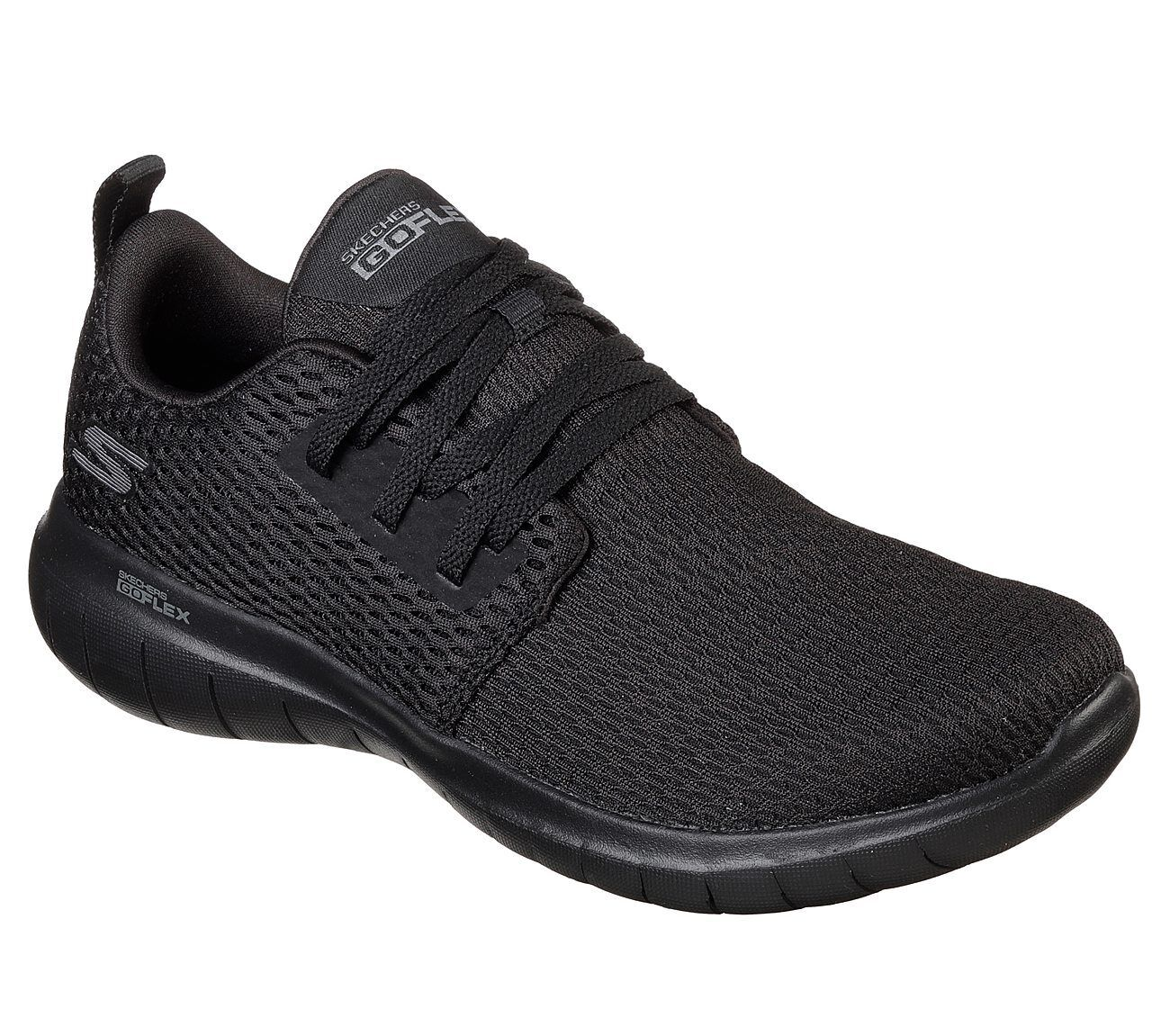 NEW WOMEN SKECHERS GO FLEX GOGA VERY MAX LACE UP BLACK VERY GOGA LIGHT SNEAKERS 15701 73b578