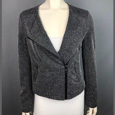 NWT Women/'s CATHERINE MALANDRINO RUNWAY STYLE Grey Blazer Jacket Size Small S