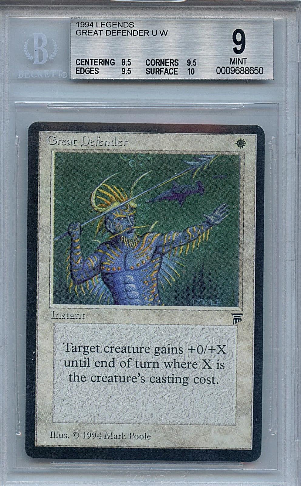 Mtg - legenden großer Grüneidiger bgs 9,0 (9) - karte magic the gathering 8.650