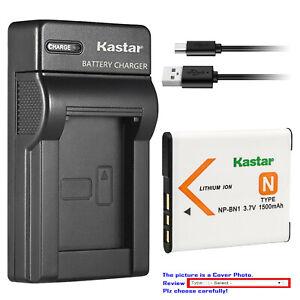 NPBN1 Lithium Ion Replacement Battery//Charger for Sony Cybershot DSCW310 DSCW320 DSCW330 DSCW350 DSCW380 Digital Cameras DavisMAX BundlevisMAX Bundle