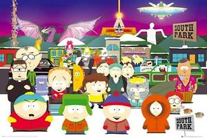 SOUTH-PARK-LADDER-TO-HEAVEN-24x36-CARTOON-POSTER-Parker-Stone-Kenny-Stan-Kyle