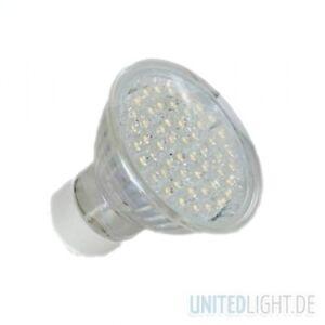 LED-Strahler-GU10-mit-52-LED-Weiss-mit-Schutzglas