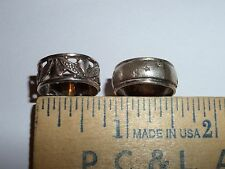 VINTAGE STERLING SILVER RING LOT SIZES 6 & 5 1/2 UNIDENTIFIED HALLMARK & ->M-H<-