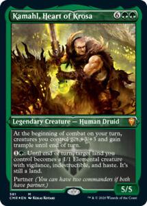 Kamahl, Heart of Krosa - Foil Etched x1 Magic the Gathering 1x Commander Legends