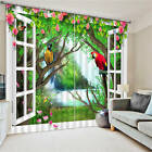 Parrots Standing Tree 3D Blockout Photo Printing Curtains Draps Fabric Window