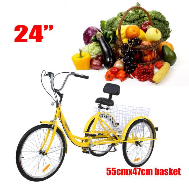 "Ridgeyard Adult 26/"" 3-Wheel Tricycle Shimano 7-Speed Trike Bicycle Bike Cruise"