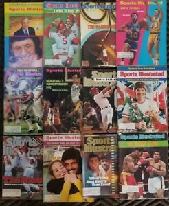 Sports-Illustrated-Magazines-lot-of-12-from-1970s-1980s