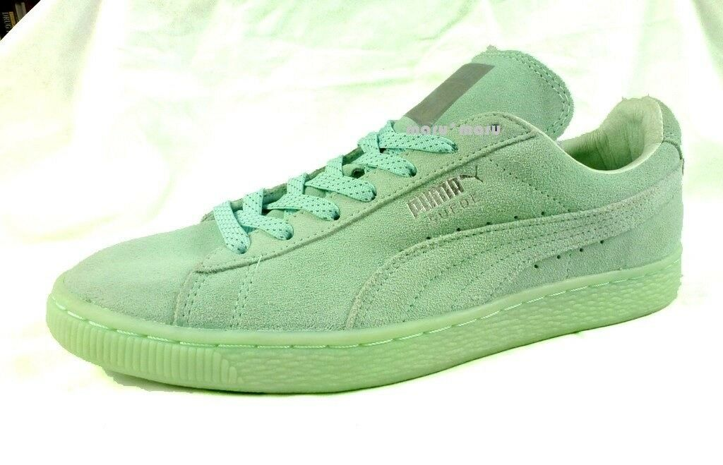 Shoes 95 New Donna PUMA Suede Shoes  10 Seafoam Green 1980s leather soft 5877b1
