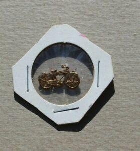 Vintage Bicycle Pin Gold Tone Metal Robbins Co