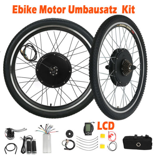 26/'/' 28/'/' 1000W 1500W E Bike Umbausatz Elektrofahrrad Motor Conversion 48V Kit