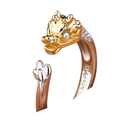 DF70 Animal Finger Ring Jewelry Christmas Crystal Rhinestone Chinese Zodiac