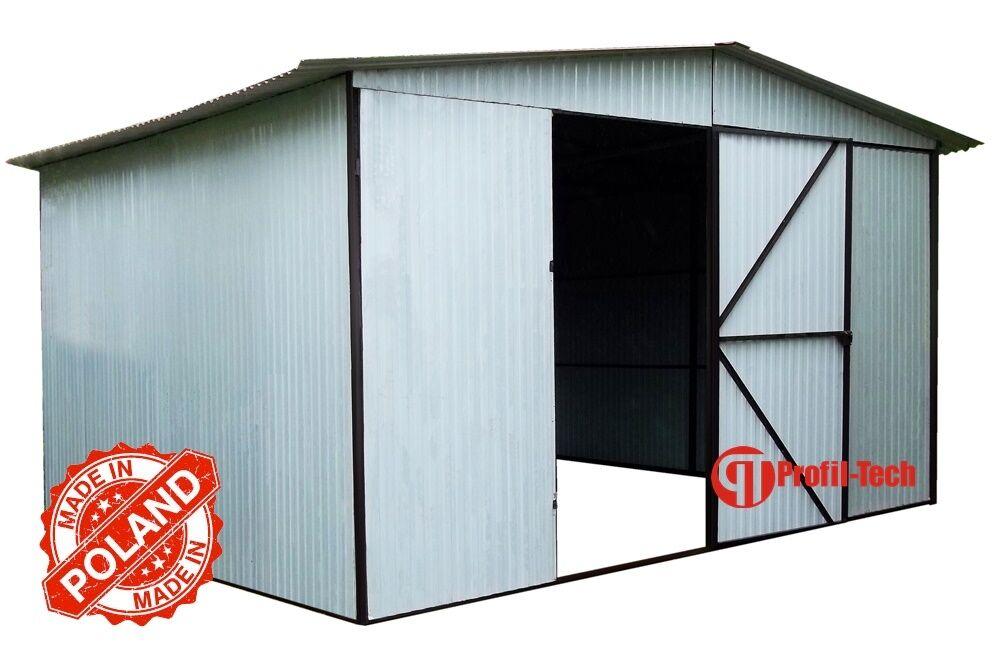 RAL 9010 6x6 Blechgarage Fertiggarage Metallgarage LAGERRAUM RAUM KFZ GARAGE