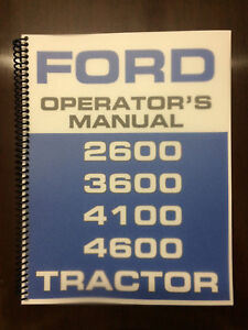 Ford-2600-3600-4100-4600-Tractor-Operators-Manual-Owners-Manual
