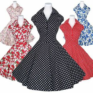7fe3040f983 Maggie Tang 50s Polka Dot Retro VTG Housewife Pinup Rockabilly Swing ...