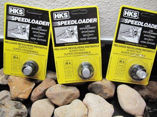 37 49,340 360 Taurus 85 38 HKS Speedloader Fits 36-A S/&W 36 42 3PACK! 40