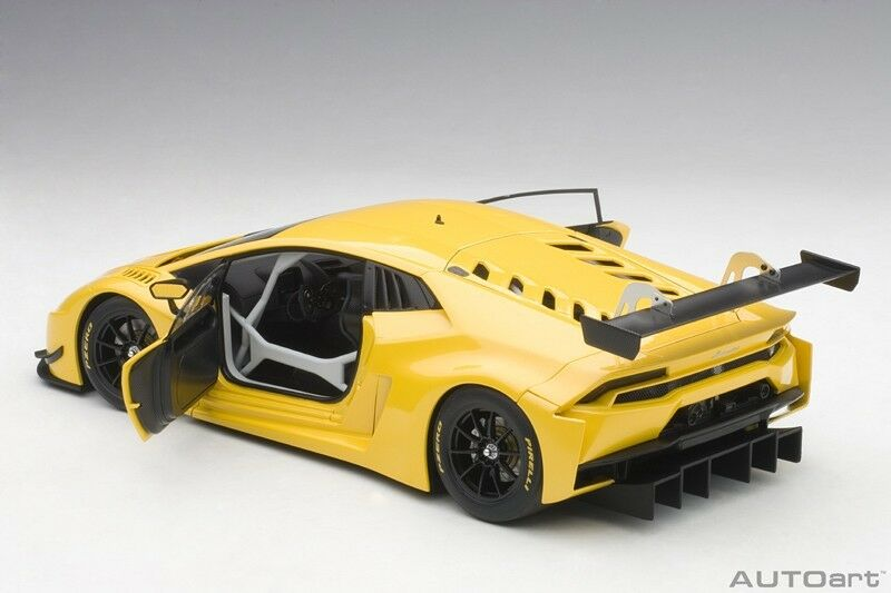 AUTOart  Lamborghini Huracan GT3 jaune INTI Pearl Metallic jaune 2015 1 18 nouveau  le dernier