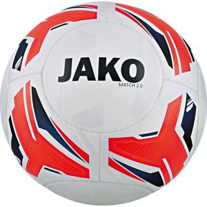 10 X Jako Balón de Entrenamiento Match 2.0 blancooo   Flame Marino Tamaño 5 Nuevo