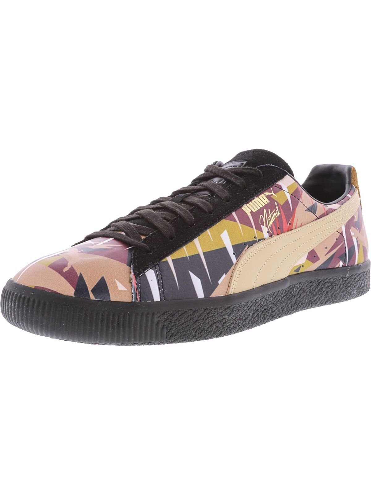 new style e3b28 21d70 Puma Men s Clyde Moon Jungle Naturel Ankle-High Fashion Sneaker Leather  nobwku8095-Men s Trainers