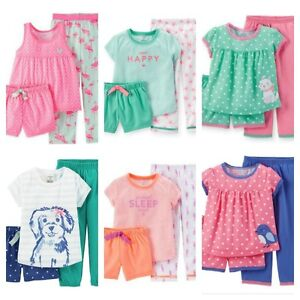 d195611598d2 Girl s Carter s Toddler 3 Pc Pajama Set Shirt Pants Shorts 12M 18M ...