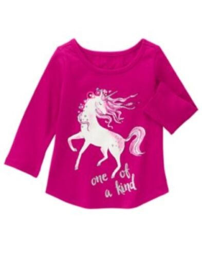 GYMBOREE MIX N MATCH  PINK w// UNICORN One of a Kind TEE 6 12 18 24 2T 3T NWT
