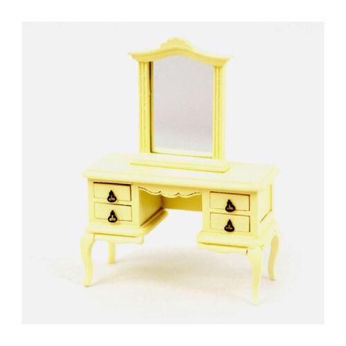 DOLLS House 5690 tavolino da trucco in stile francese COLORI CREMA 1:12 Nuovo #