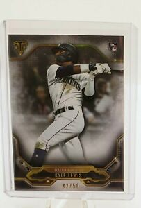 2020-Topps-Triple-Threads-Kyle-Lewis-Onyx-Rookie-Card-Parallel-039-ed-50-ROY-RC