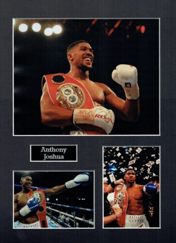 Anthony JOSHUA 16 x 12 Montage, British IBF World Champion Boxer