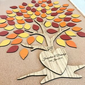 Rustic-Wooden-Tree-Wedding-Guestbook-Autumn-Colours-Leaves-Personalised-Trunk