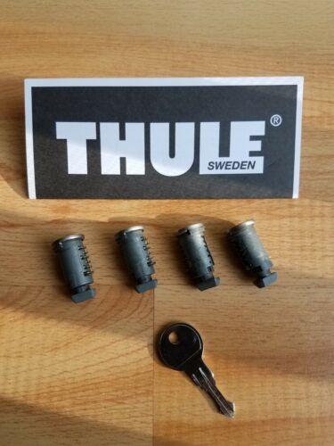 Thule Lock CYLINDRES SERRURE Cœurs 4 Verrouillage Cœurs 1 clés