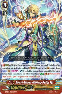 1x Cardfight!! Vanguard Beast-slayer Military Deity, Tyr - G-fc03/012 - Rrr Near
