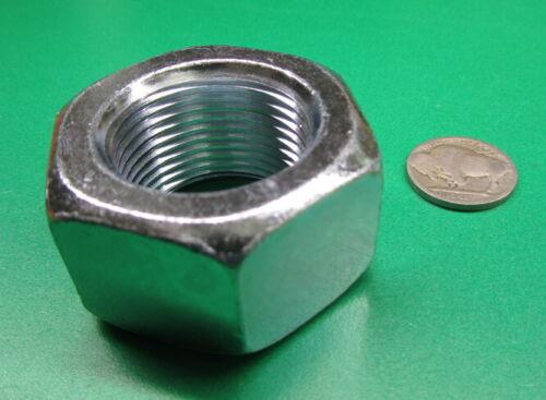 "Hex Nut 1 1//4/""-12 5 Pcs Zinc Grade 2 Steel 1 7//8/"" W x 1 1//16/"" H RH"