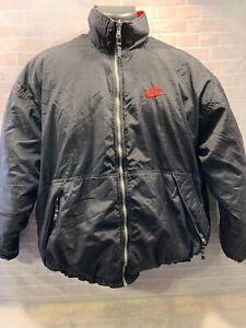 Vintage-NIKE-Coat-Reversible-Black-Red-Bred-Men-039-s-Size-M