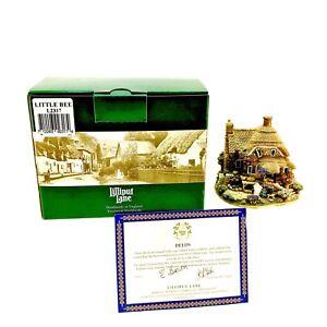 Lilliput-Lane-Little-Bee-Cottage-Vintage-2000-Ornament-L2317-Boxed-Deeds-New
