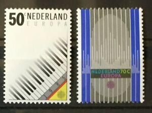Piano Organ Pipes Europa mnh set 2 stamps 1985 Netherlands #669-70 Keyboard