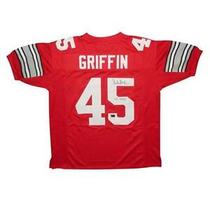 a0788a96105 Image is loading ARCHIE-GRIFFIN-Signed-SCARLET-45-Custom-Jersey-OHIO-