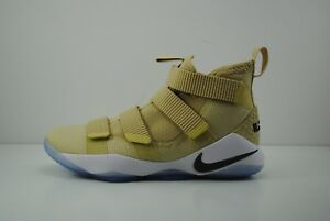 14ac63a9ebd Mens Nike Lebron XI 11 TB Promo Basketball Shoes Team Gold Tan White ...