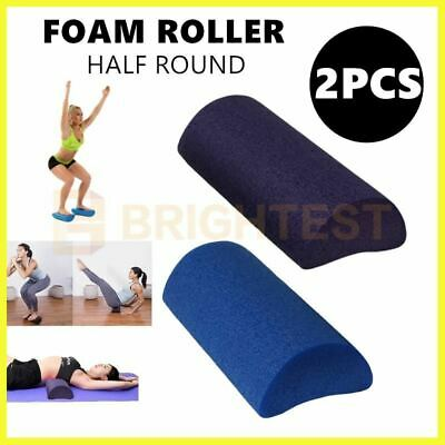 2pcs semicircular yoga foam roller exercise workout