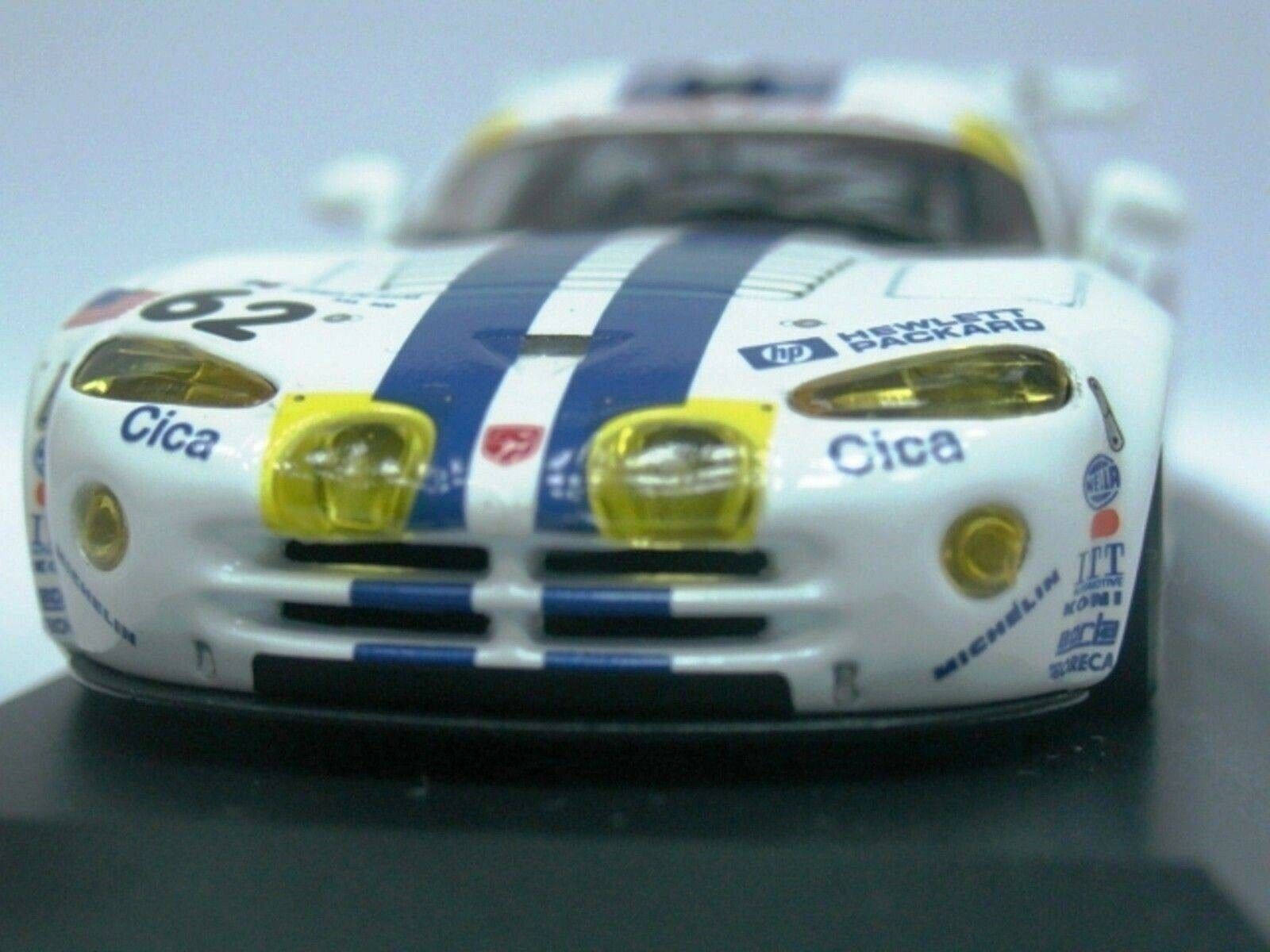 WOW EXTREMELY RARE Chrysler Viper 1997 GTS-R Duez Le Mans 1 43 Minichamps
