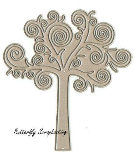 TREE DIE Swirl Tree American made Steel Die by Impression Obsession DIE036-P New