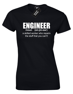 ENGINEER DEFINITION LADIES T-SHIRT FUNNY GIFT FOR GIFT ENGINEERING WOMENS